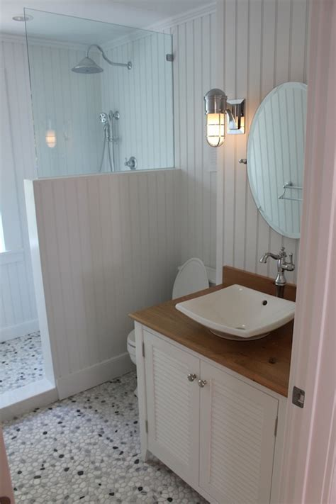 using beadboard in bathrooms the first floor bath has nantucket beadboard made of pvc