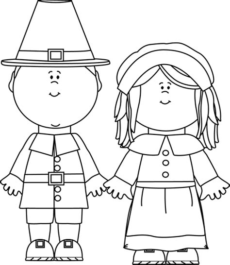 free a pilgrim girl coloring pages