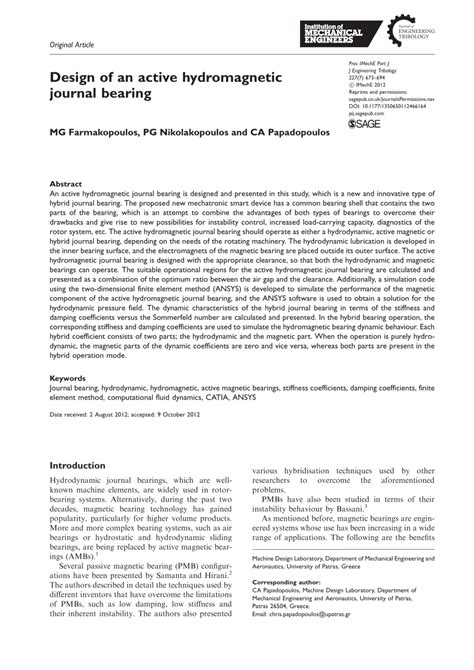 design of journal bearing pdf design of an active hydromagnetic journal pdf download