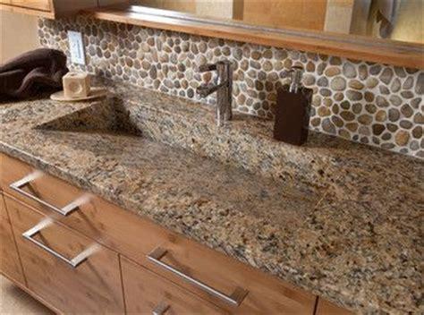 River Rock Kitchen by River Rock Backsplash For The Home