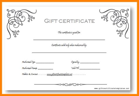 free business certificate templates free business gift certificate template 7 free gift