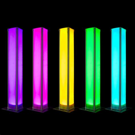 Lighted Columns Lighted For