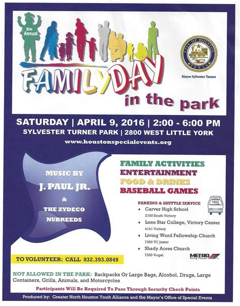 s day in the park houston forward times mayor turner s 9th annual family