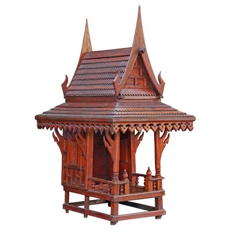 spirit house old restored thai teak spirit house