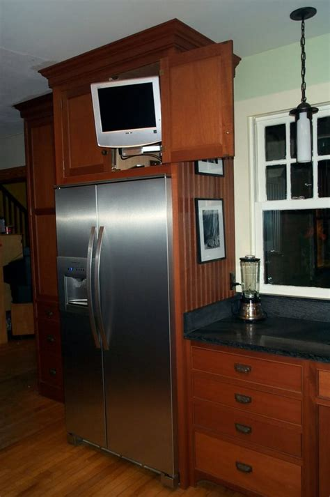 kitchen cabinets around refrigerator kitchen cabis around refrigerator 1 tv cabi above cabinet