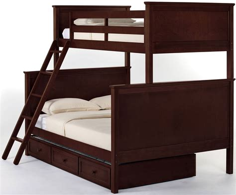 cherry bunk beds school house cherry twin over full bunk bed with trundle