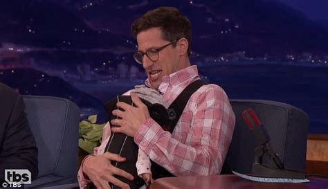 andy samberg tattoos andy samberg causes chaos as he debuts baby