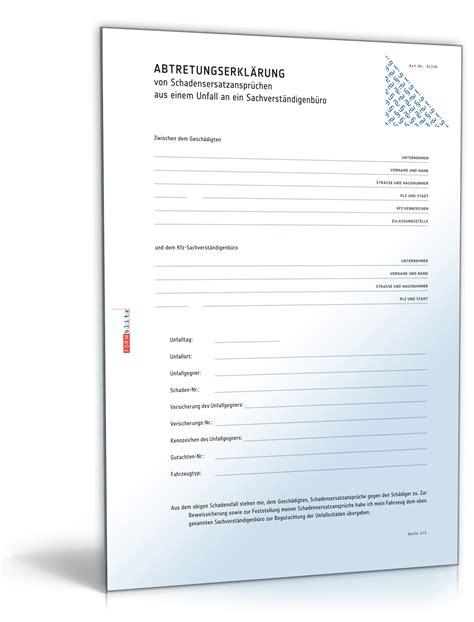 Vorlage Antrag Wertminderung Abtretungserkl 228 Rung Schadensersatzanspr 252 Chen De Vertrag