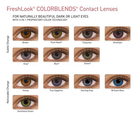 fresh look contacts colors freshlook contact lenses alcon ciba vision