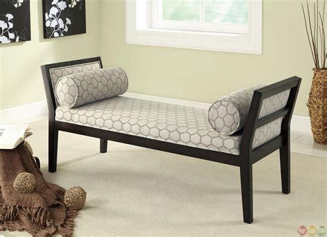 bench with pillows cappuccino off white hexagon bench with lumbar pillows