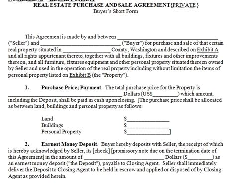 house for sale contract