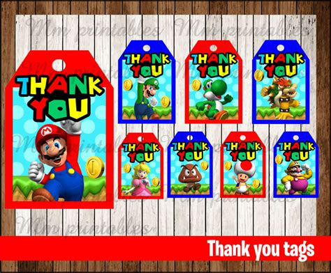 printable mario thank you cards 80 off sale mario bros thank you tags instant download