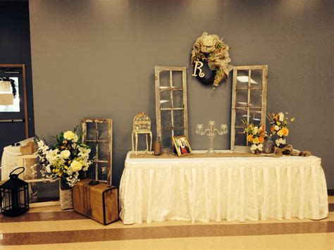 rustic wedding gift table decorations ashtensbigday