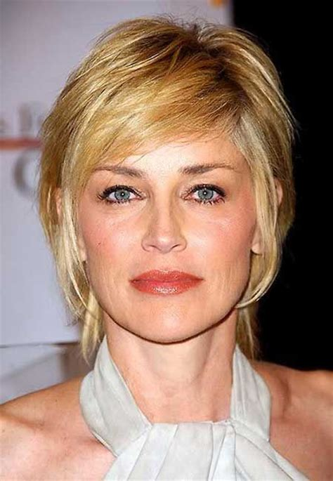 short hair for over 50 that is young looking sharon stone short haircut hair cut color ideas