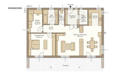 Grundriss Bungalow Modern by Bungalow Fertighaus Das Fertigteilhaus F 252 R