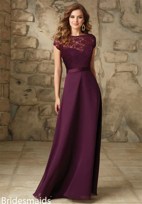 Glr Gn Coat Dress Quenn Maroon illusion sweetheart cap sleeve plum lace chiffon