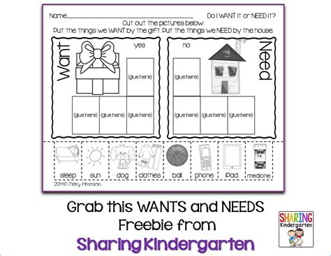 kindergarten activities needs and wants wants and needs worksheets worksheets tataiza free