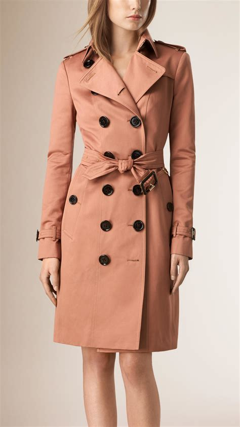 Cotton Trench Coat burberry cotton sateen trench coat in pink antique garnet