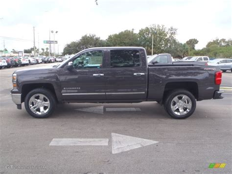 tungsten metallic 2014 chevrolet silverado 1500 ltz crew cab 4x4 exterior photo 89461420