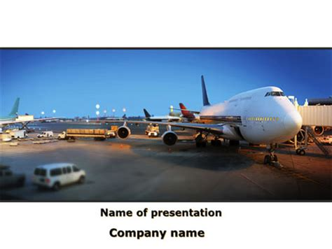 Airport Service Presentation Template For Powerpoint And Keynote Ppt Star Airport Powerpoint Template