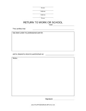 return to work slip template archives internetranking