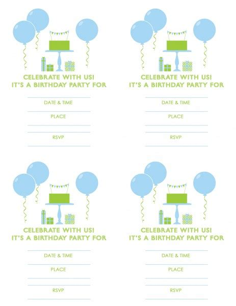 celebrate it templates all purpose cards 7 best images of boy birthday printables free printable