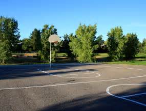 Backyard Basketball Download Outdoor Basketball Court Picture Free Photograph