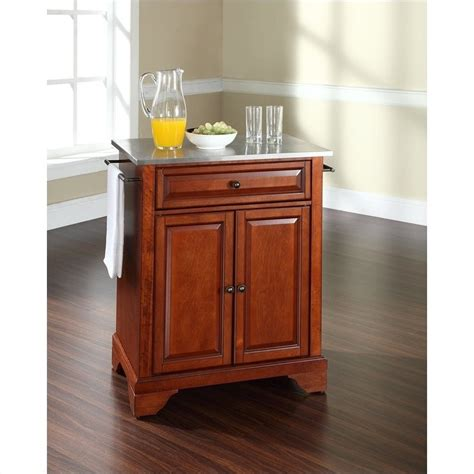 crosley furniture lafayette stainless steel top kitchen crosley furniture lafayette stainless steel top cherry