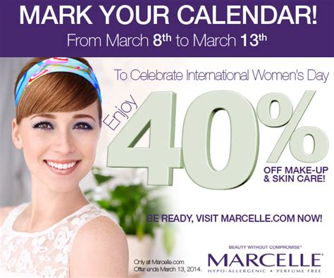 Stallex Skin Care March Promotion by Marcelle