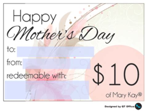 Check Qt Gift Card - gift certificates for mother s day qt office 174 blog free mary kay 174 resources for
