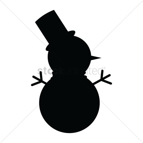silhouette clipart snowman pencil and in color