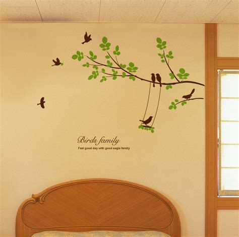 ebay tree wall stickers large tree seven birds wall decals removable decorative