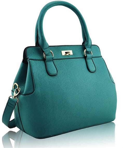 wholesale teal fashion tote handbag