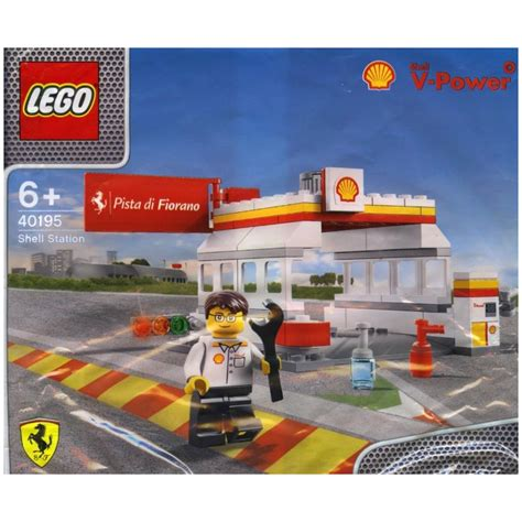 lego shell station polybag lego 40195 5702015243124