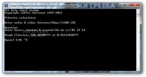 video format file size calculator filesize calculator download