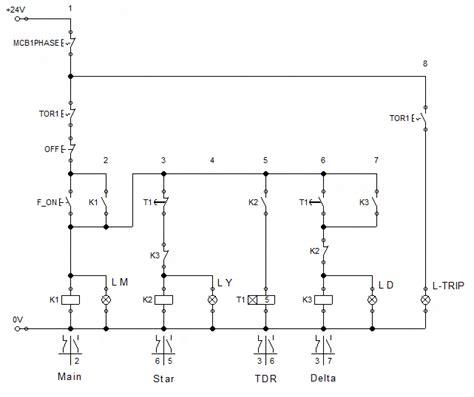 wiring diagram delta bintang segitiga elektro mekanik