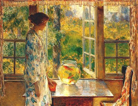 Bowl of Goldfish   Childe Hassam   WikiArt.org