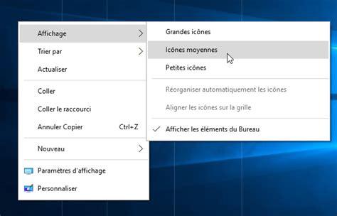 affichage bureau windows 7 windows 10 afficher le bureau comme un dossier liste et