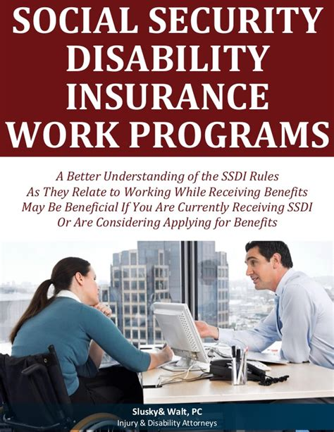 social security disability insurance work programs