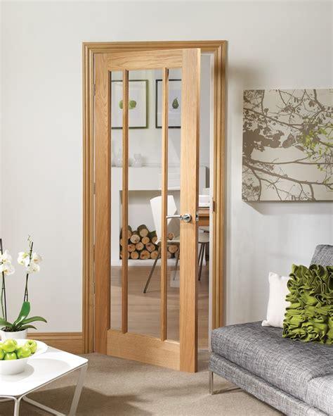 oak front doors with glass worcester 3 light oak door with clear glass