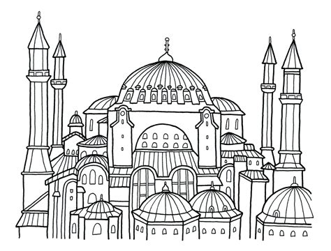 hagia sophia istanbul turkey coloring page coloring 2 hagia sophia coloring pages bltidm