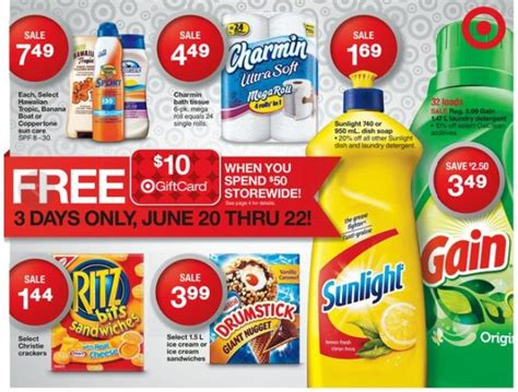 Target 10 Gift Card When You Spend 50 - target canada 10 gift card when you spend 50 june 20th 22nd canadian freebies