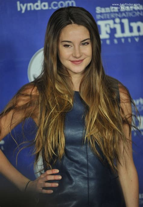 shailene woodley s super long thick hair with ombre coloring