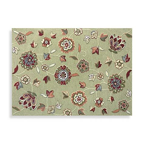 floral bath rugs loloi rugs juliana collection handcrafted decorative floral rug in green bed bath beyond