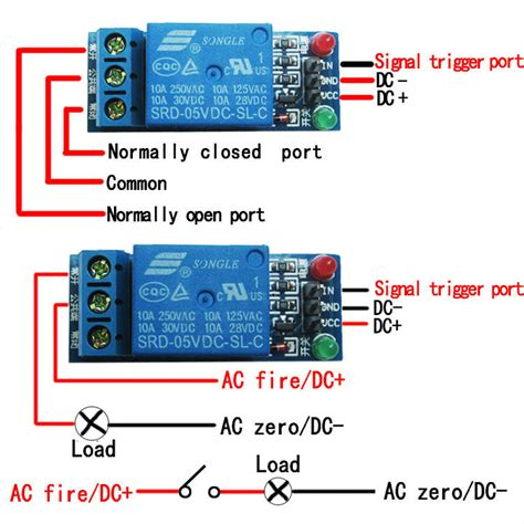 arduino relay connection 120v electrical engineering