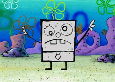 how to draw doodlebob 90s spongebob gif find on giphy