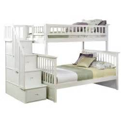 bunk bed with stairs white classic arch slatted bunk bed with stairs