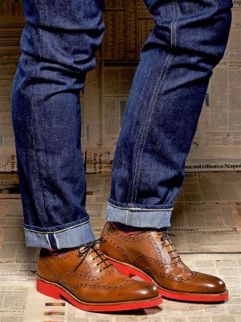 brown wingtips  jeans shoes shoes shoes