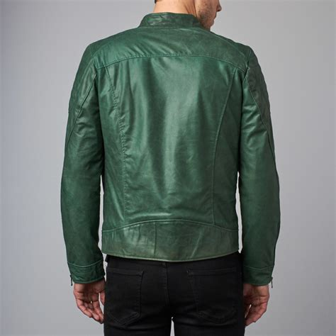 biker jacket sale leather biker jacket green euro 46 ad milano
