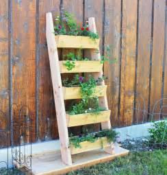 white cedar vertical tiered ladder garden planter